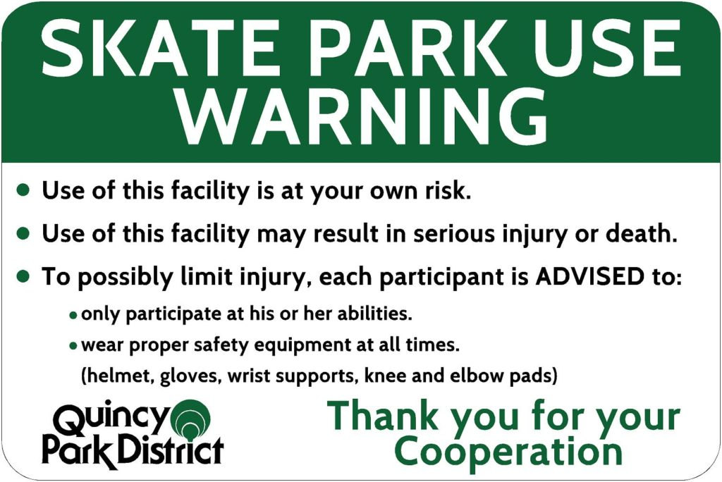 Lincoln Skate Park Rules - Quincy Park District