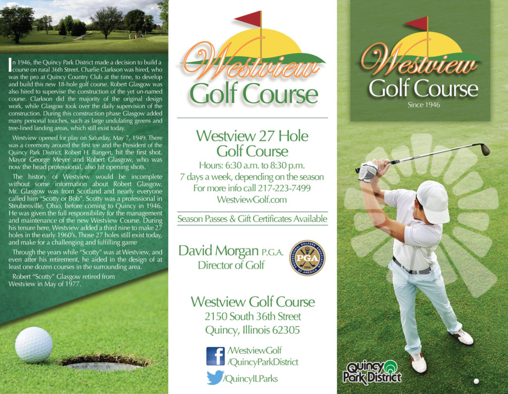 Westview Golf Course Brochure - Quincy Park District