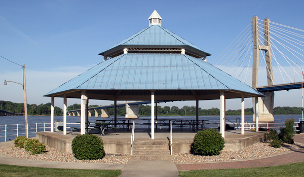 Clat Adams Gazebo Shelter - Quincy Park District