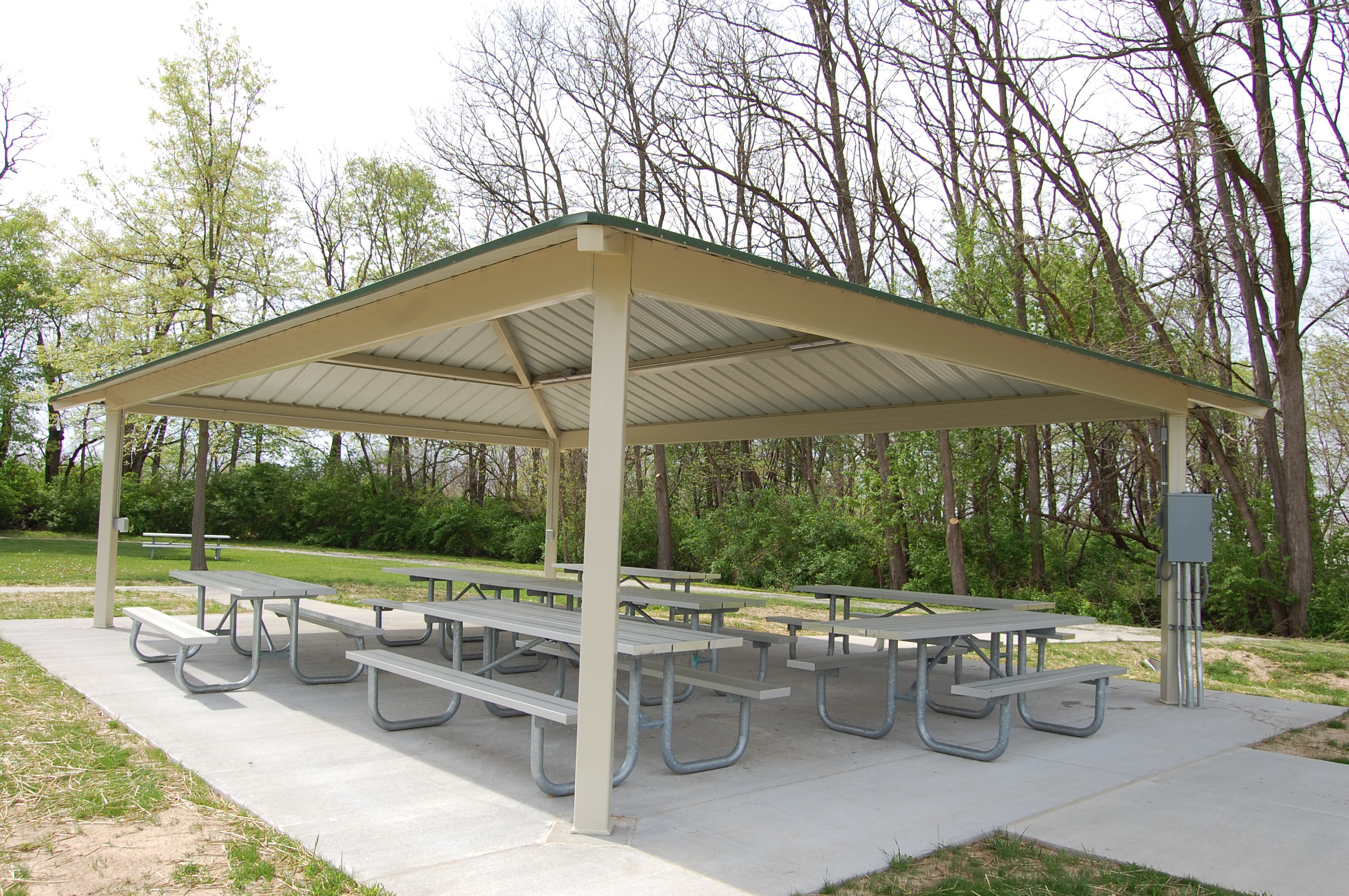 Small Park Shelters : Shelters quincy park district