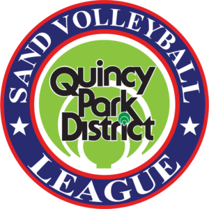 Quincy Park District Sand Volleyball League Logo